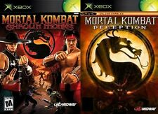 mortal kombat shaolin monks & deception     PAL ORIGINAL XBOX