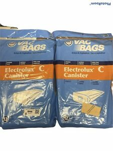 TWO 12 Packs DVC Brand Vac Bags Electrolux Canister C Four Ply 24 Bags Total
