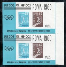 Panama 1960 souvenir sheet #8 UNSEVERED pair MNH, the only one known !!!