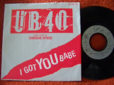 UB 40 feat. Chrissie Hynde - I got you babe / Theme from labour..    Virgin 45