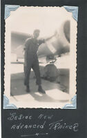 WWII 1944 USAAF Greenville Air Field MS Photo me & New Advanced trainer airplane