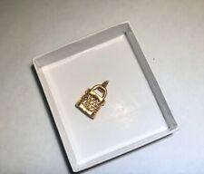 .999 Pure Yellow Gold Padlock Charm Pendant