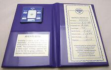 Folding Book w/Loose Green AVENTURINE Gemstone Genuine w/Paperwork & Stats Nice