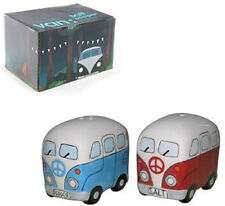 CERAMIC VW CAMPER VAN SALT and PEPPER SET (CV20B)