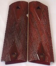 1911 FULL SIZE GRIPS COCOBOLO full DOUBLE DIAMOND CHECKNG AMBI~CUT Nice l@@k