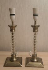 "Pair Of Brass Effect Lamps 16"" High"