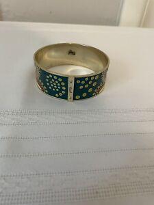 "Fossil Boho Thick Bangle Bracelet 9.5"" diameter 1"" thick - Pre-Owned"