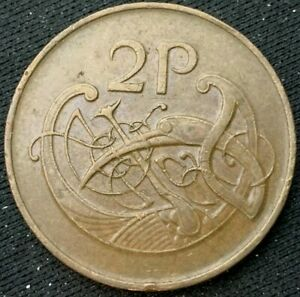 1979 Ireland 2 Pence Coin XF      World Coin Bronze       #K309