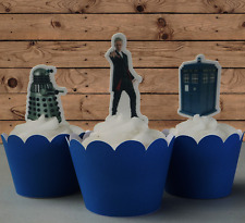 #537. Dr Who EDIBLE wafer cupcake cake toppers STANDUP birthday