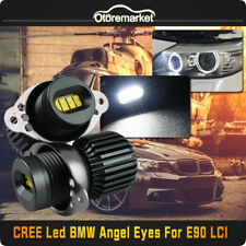 2x 160W CREE LED White Angel Eyes Light Halo Ring Bulbs For BMW E90 LCI 80W/Bulb