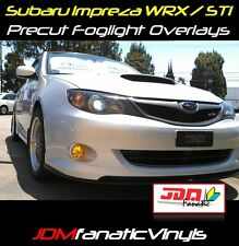 08-10 Subie impreza WRX STi fog light JDM yellow TINT overlays wrap cover precut