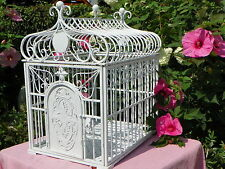 Large Designer Dog Crate~Cage~Kennel White Metal Chic & Shabby Cottage Finish