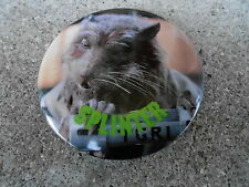 "VINTAGE PINBACK BUTTON #47- 095 - 2 1/4"" TMNT TURTLES -  SPLINTER"