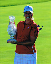 Brittany Lincicome signed Lpga 8x10 Solheim Cup Trophy photo with Coa