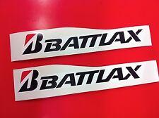 2 Adesivi BRIDGESTONE BATTLAX sponsor moto auto Black 20 cm.
