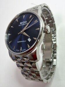 MIDO Herren-Automatic-Uhr BARONCELLI Edelstahl Midnight Blue NP 680 €, NEU+OVP