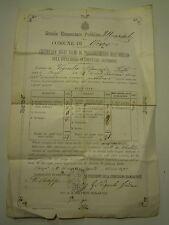 DIPLOMA PAGELLA SCUOLA ELEMENTARE PUBBLICA DEL COMUNE DI ONZO - 1893 - 32-27