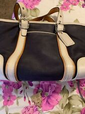 Blue And White Coach Small Handbag