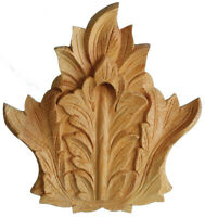 Pediment Feature Decorative Wood Onlay - Regal Crest Hand Carved Pinewood PNR731