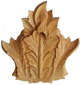 Pediment Centrepiece, Feature Decorative Crest Onlay, Pine Wood Carving, PNGR731