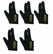 5 Champion Sport Black Right Hand Billiards Gloves for Pool Cues