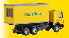 HS Kibri 16310 MB LP  Wechsellader  mit GleisBau Bürocontainer Bausatz.