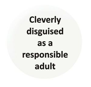 Cleverly Disguised 25mm button badge funny slogan