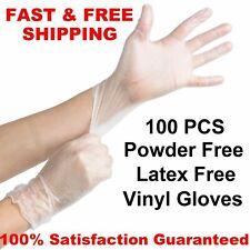 100 Large VINYL GLOVES Food Grade Deli Exam Powder Latex Nitrile Free SIZE L