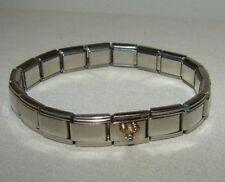 Mickey Mouse Rhinestone Italian Charm Bracelet (18) Links
