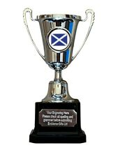 Scotland Saltire Silver Moment Cup Award Trophy (E) ENGRAVED FREE