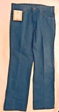 "VINTAGE NWT LEVIS Mens ""skosh more comfort"" Blue jeans-Size 36/30- Md in USA"