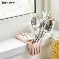 Kitchen Sink Faucet Sponge Soap Storage Organizer Cloth Holder White Rack N3K7