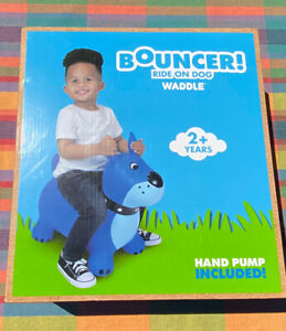 bouncer ride on dog waddle Toddler Boy Girl Hand Pump Included