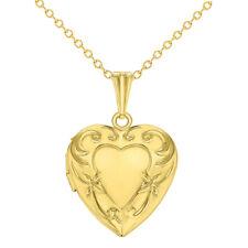 """Love Heart Girls Locket Pendant Necklace Memories Teen Kids 16"""""""