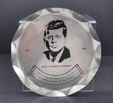 Vintage Black Etched Scalloped Ruffled Metal Jfk John Kennedy Plate Platter