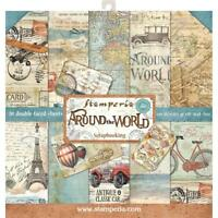 "STAMPERIA- 12"" X 12"" PAPER COLLECTION- AROUND THE WORLD"
