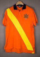 Polo Ralph Lauren Herren Maßgefertigt Für Freizeit Hals Hemd Größe L AOZ1161