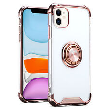 For iPhone 11,11 Pro Max Crystal Clear Shockproof Case Ring Kickstand Slim Cover