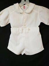 Boys Vintage 'Iwanta' White John John Shorts And Shirt Outfit Size 3