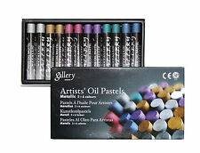 Ölpastellkreiden Ölpastell metallic 12 (2x6) Farben Mungyo Artist's Oil Pastels