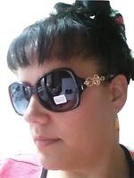 Womens Rhinestones Sunglasses Fashion Designer Shades Retro Large V