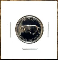 Canada 1967 Centennial Silver Quarter 25 Cents Proof Like Gem!!