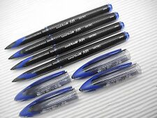 NEW 5pcs UNI-BALL UBA-188M 0.5mm roller ball pen  with cap Blue(Japan)