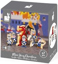 Janod MINI STORY KNIGHTS Wooden Toy Box Set Toddler/Child Figures BN