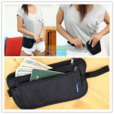 Unisex Women Men Travel Waist Bag Zipped Pouch Passport Money Belt Bum Bag