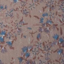 """Vintage Brown Floral Cotton Polyester Fabric 58""""x144"""""""