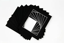Pack of 10 Photo , Picture Mount , Frame Mounts - Various Size A4 A3 - Black
