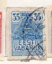 Estonia 1919 Early Issue Fine Used 35p. 170975