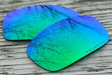 Polarized Green Blue Mirrored Sunglass Lenses for Oakley X Squared - Purple Tint