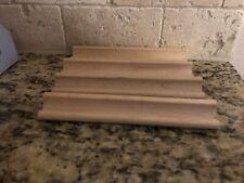 Scrabble Letter Tile Rack Holder Wooden Wood Crafts Set Of 4